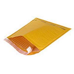 "6"" x 10"" Kraft #0 Bubble-Lined Self-Seal Mailer Envelopes 250 Pc"