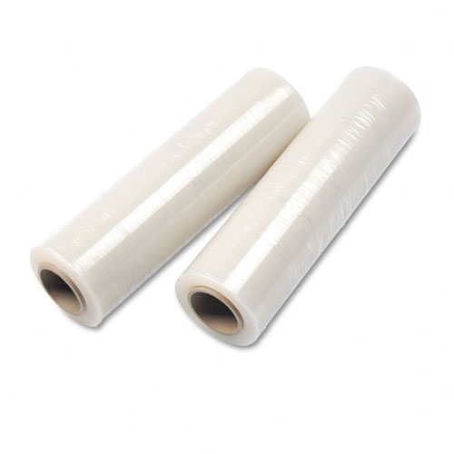 "12"" x 1500' 70 Ga Clear Blown Wrap Bundling Hand Stretch Film 4 Rolls"